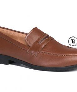 Giày lười da nam công sở GL62 nâu